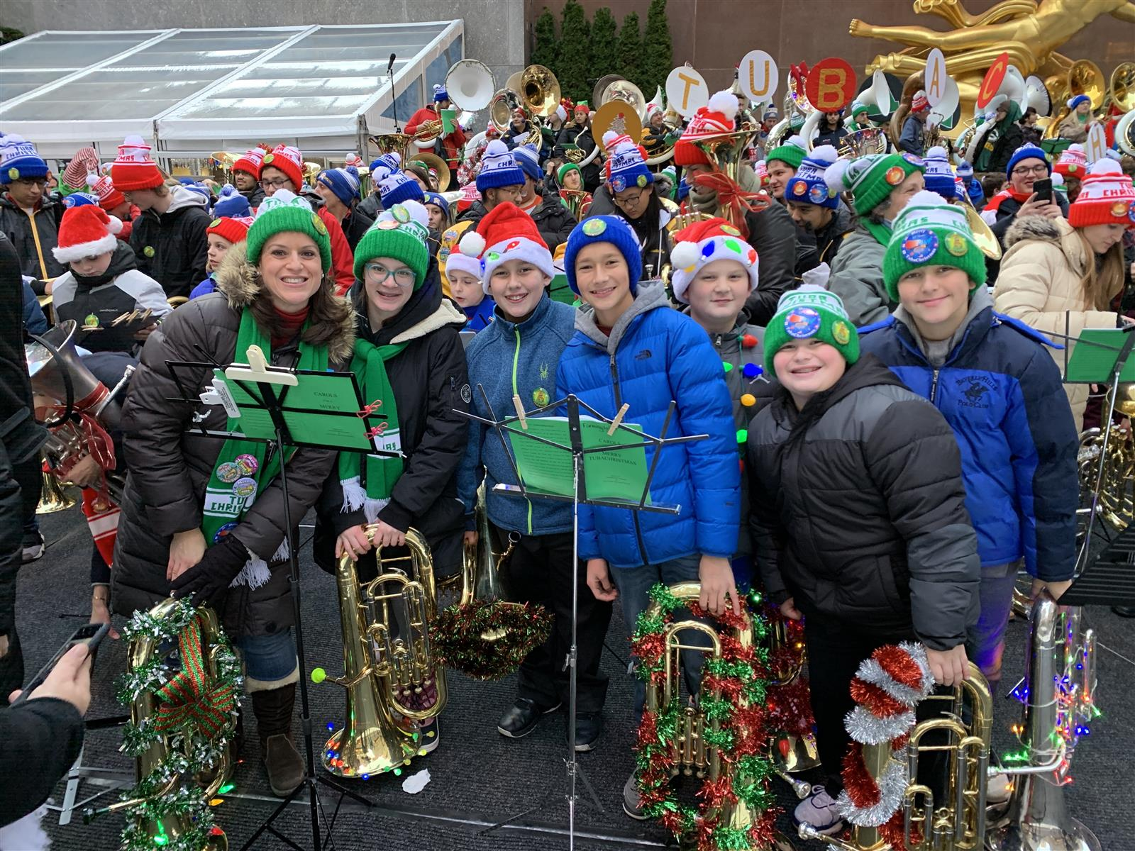 Farmingdale Students Perform Tuba Christmas at Rockefeller Center
